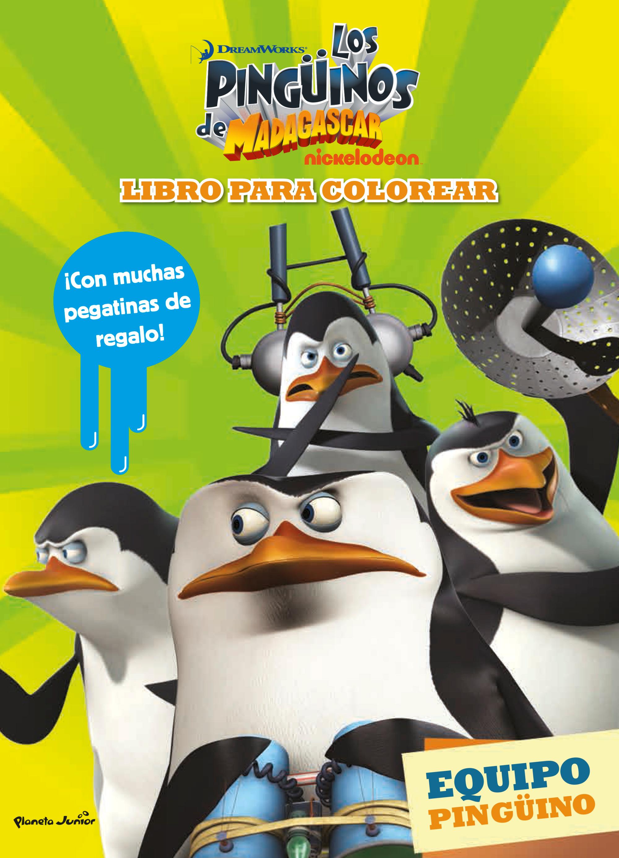 Los pingüinos de Madagascar. Libro para colorear   Planeta de Libros